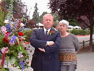 Image of Jim and his sister Joan just before the ceremony